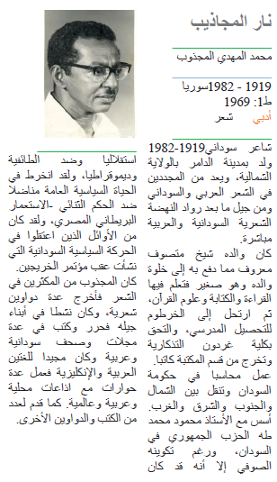 محمد المهدي المجذوب نار المجاذيب
