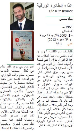 خالد حسيني عدّاء الطائرة الورقية