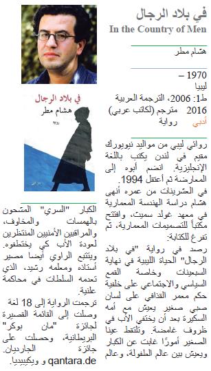 هشام مطر في بلاد الرجال