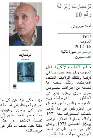 أحمد مرزوقي تزممارت زنزانة رقم 10