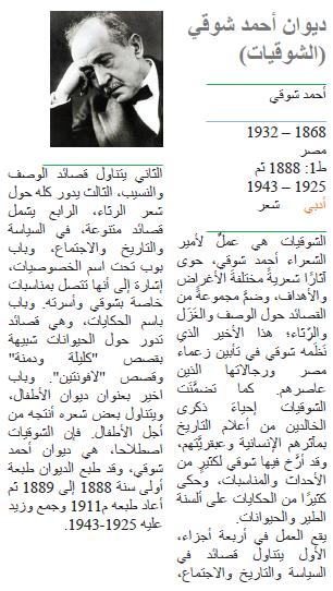ديوان أحمد شوقي (الشوقيات)