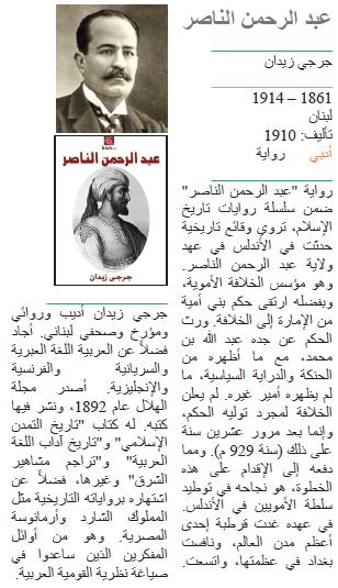 جرجي زيدان عبد الرحمن الناصر